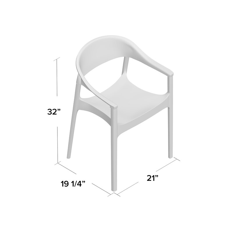 Anner Stacking Patio Dining Chair