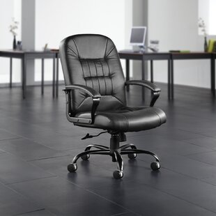 Big And Tall Ergonomic Genuine Leather Executive Chair by OFM Best