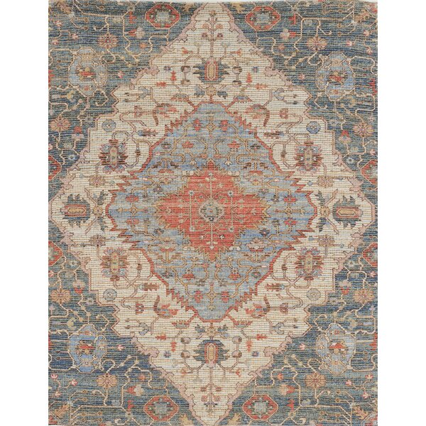 Harker Handwoven Flatweave Blue Area Rug by Joss & Main