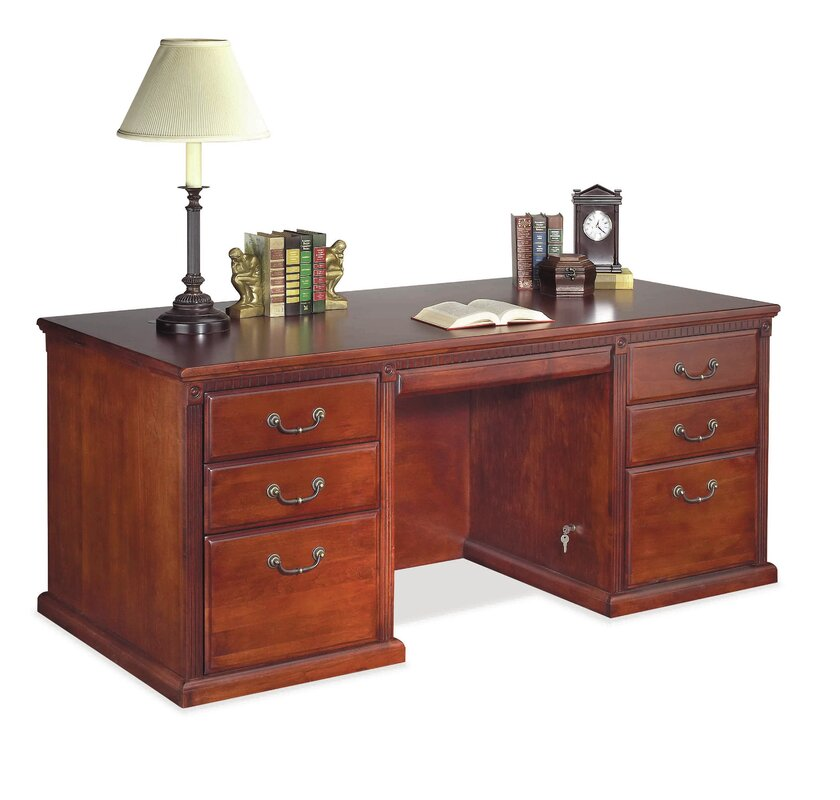 Huntington Club Double Pedestal Executive Desk