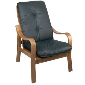 Omega Oak Leather Chair by Holsag