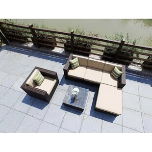 Hideaway 6 Piece Rattan Sectional Seating Group