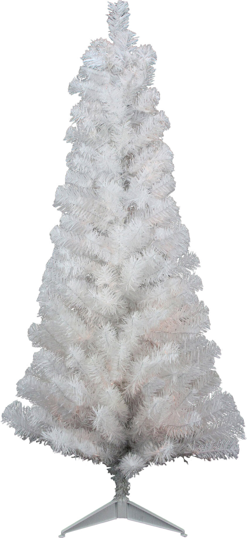 Northlight 4 White Artificial Christmas Tree With Unlit Light Stand And Tinsel Branches Wayfair
