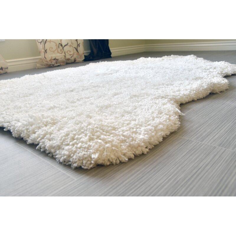 Super Soft Handmade White Area Rug