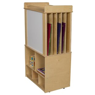 Best Reviews Store-It-All Teaching Center Double Sided 3 Compartment Cubby with Trays By Wood Designs