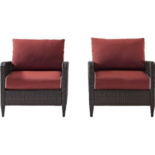 Mosca Patio Dining Chair with Cushion (Set of 2)