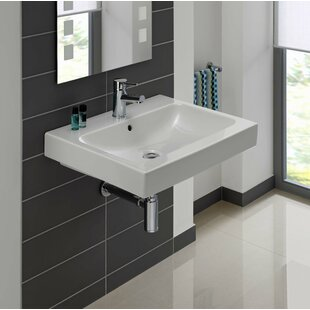 Bissonnet ICon Ceramic Rectangular Vessel Bathroom Sink with Overflow