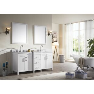 Hollandale 73 inch  Double Sink Vanity Set with Mirrors