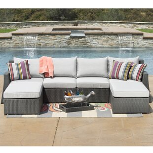 Vesperina 6 Piece Sunbrella Sectional Seating Group with Cushions