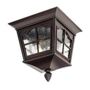 Madrid 2-Light Outdoor Flush Mount By Ophelia & Co.