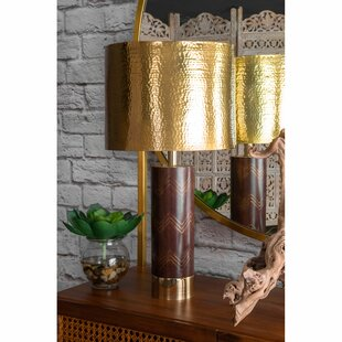 Lundquist Wood and Iron 26 Desk Lamp