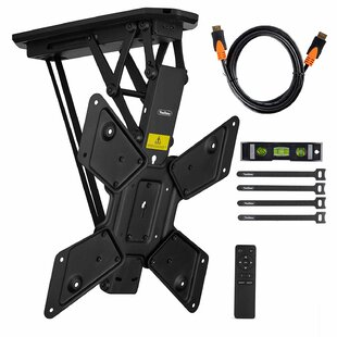 Electric Motorized Flip Down Pitched TV Bracket Ceiling Mount for 23