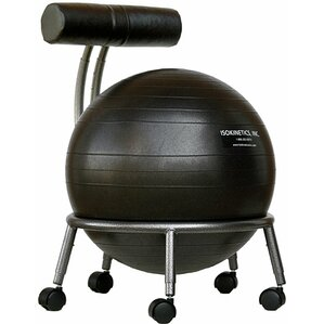 Lesly High Back Exercise Ball Chair