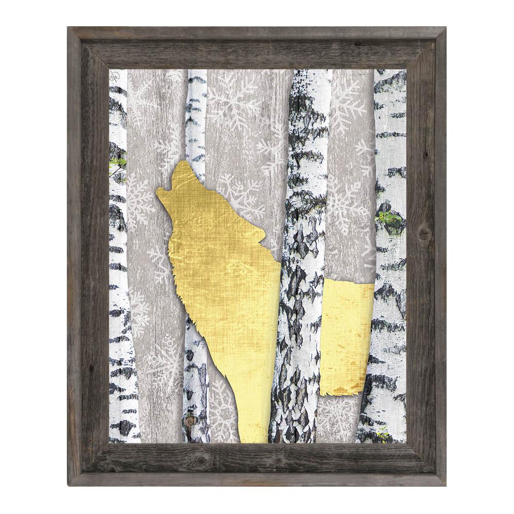 Click Wall Art \'Howliday Wolf\' Framed Graphic Art   Wayfair