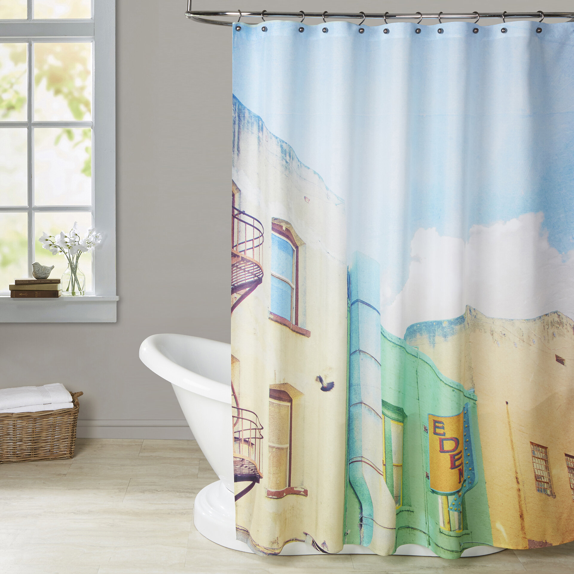 Brayden Studio Mina Teslaru San Francisco Tops 1 Shower Curtain