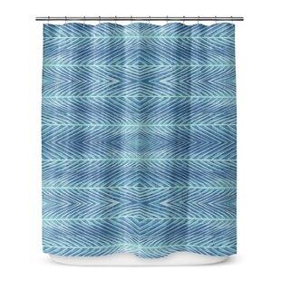 KAVKA DESIGNS Palms Shower Curtain