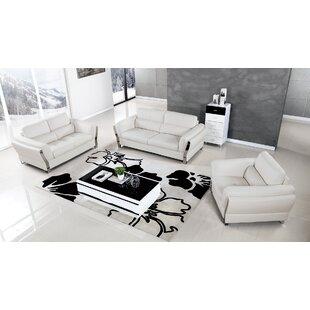 Orren Ellis Henke 3 Piece Living Room Set
