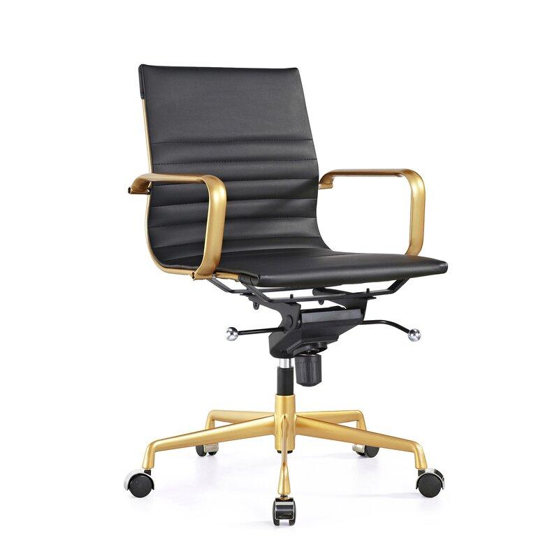 Charmant Decade Classic Aluminum High Back Desk Chair