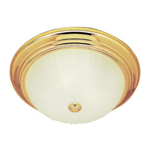Leicester 3-Light Flush Mount by Charlton Home