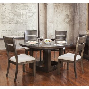 Hazelton 5 Piece Solid Wood Dining Set Gracie Oaks