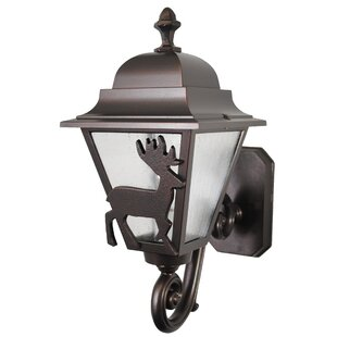 Compare prices Penfield 1-Light Outdoor Sconce By Alcott Hill