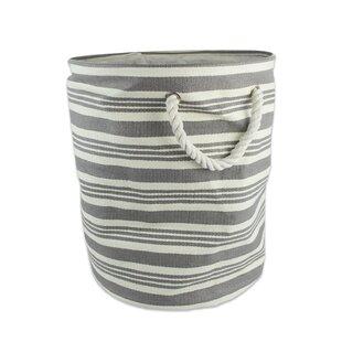 Large Round Stripe Woven Paper Bin ByLongshore Tides