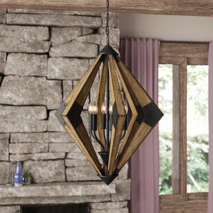 Shaw Wood 6-Light Geometric Chandelier by Union Rustic