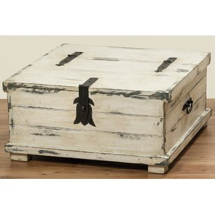 Maggio Coffee Table Trunk by Highland Dunes