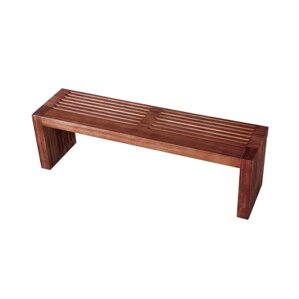 Onghoue Long Wood Bench by Bloomsbury Market