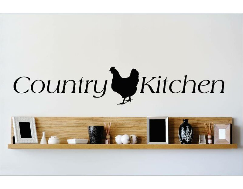 Design With Vinyl Country Kitchen Wall Decal Wayfair