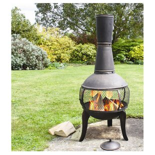 Deeco Tuscan Glo Steel Wood Burning Chimi..