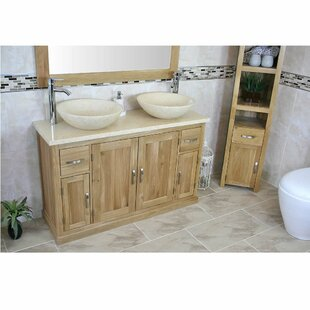 Deitz Solid Oak 1230mm Free-Standing Vanity Unit By Belfry Bathroom