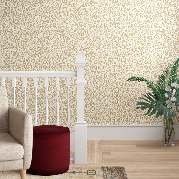 Strang Leopard 165 L X 205 W Animal Print Peel And Stick Wallpaper Roll