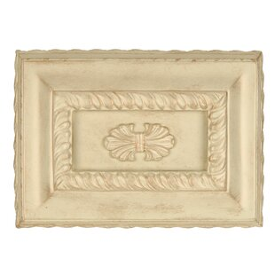 classic hand carved rectangle chime in antique white distressed - White Distressed Flooring