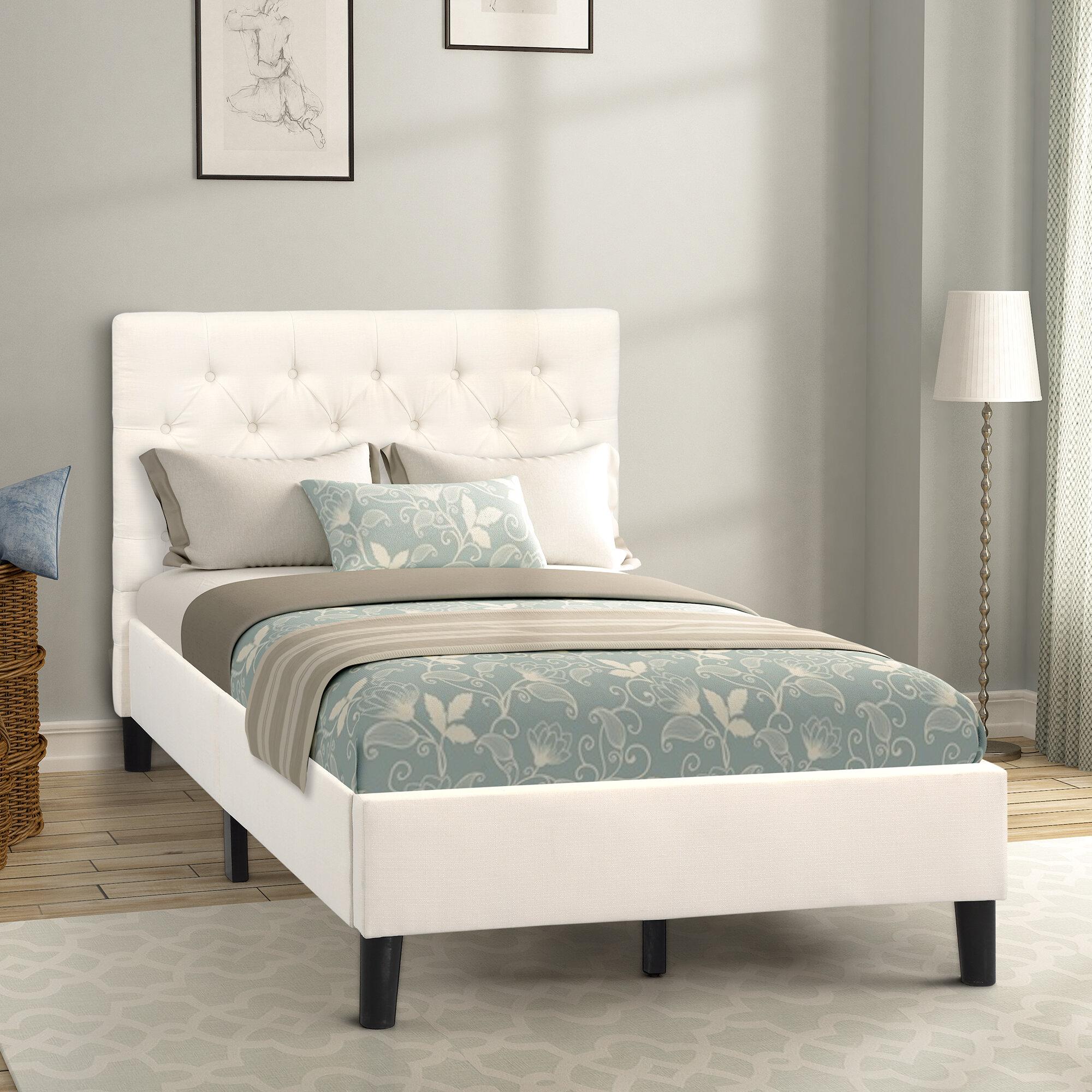 Latitude Run Akkie Tufted Upholstered Low Profile Platform Bed Wayfair