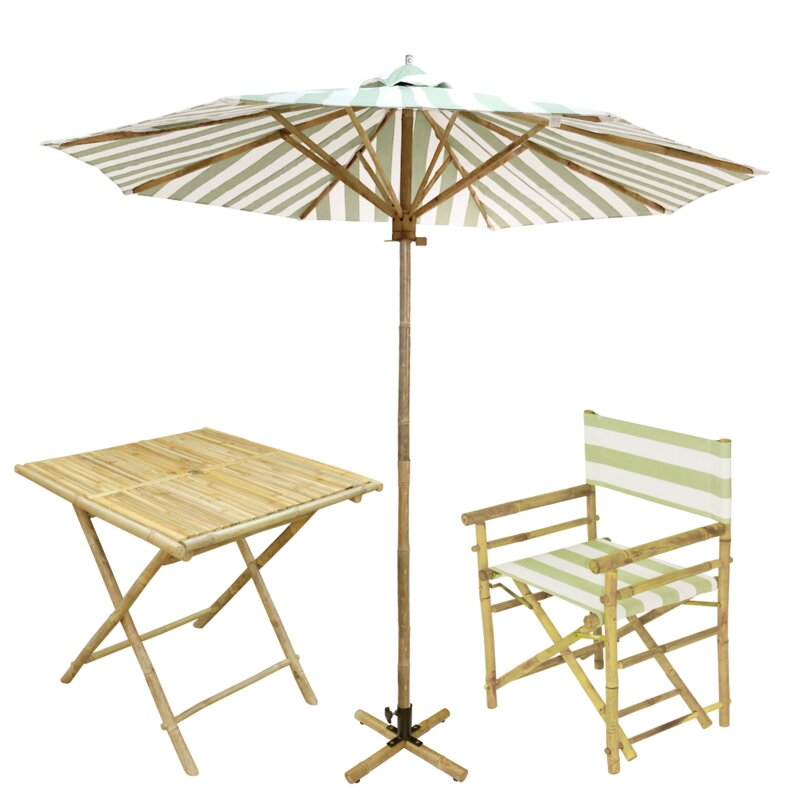 Bayou Breeze Jaliyah Patio 5 Piece Dinning Set With Umbrella Wayfair