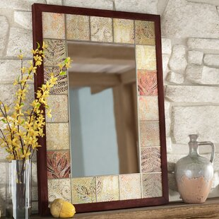 Where buy  Leaf Tile Bathroom/Vanity Wall Mirror By Loon Peak