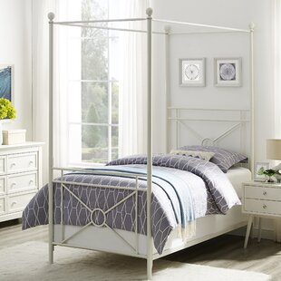 Berkey Twin Canopy Bed by Winston Porter 2019 Sale