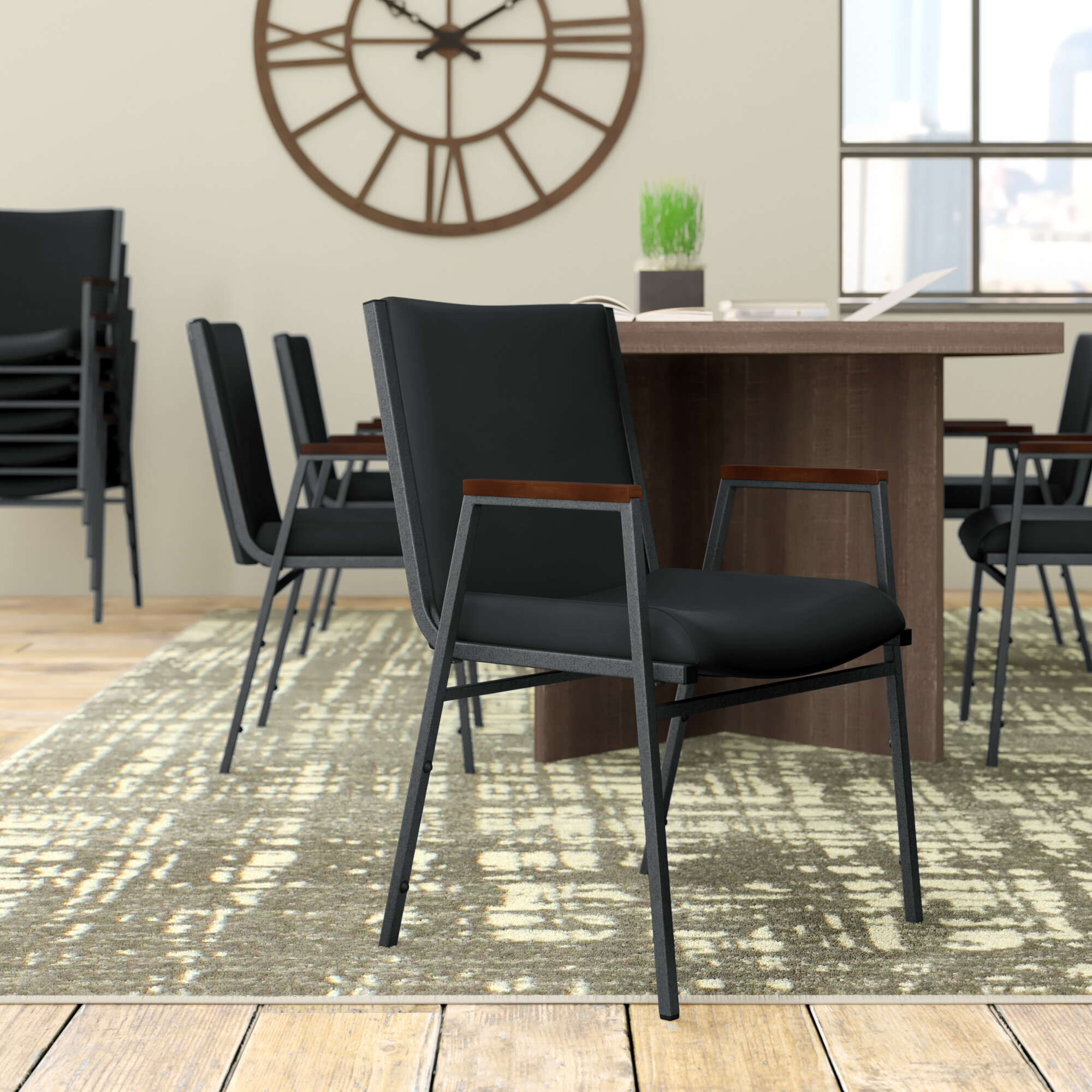 Brayden Studio Dewalt Heavy Duty Fabric Stacking Chair Wayfair