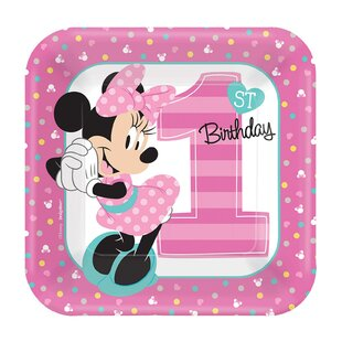 Disney Minnie Mouse 1st Birthday Paper Disposable Party Favor