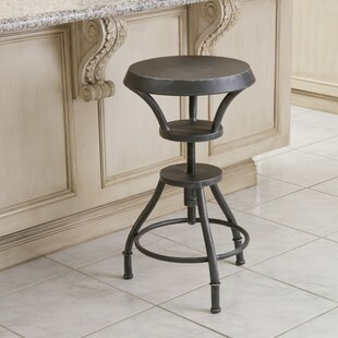 Baulch Adjustable Height Swivel Bar Stool by Williston Forge Discount