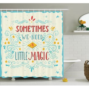 Magic Quote Art Shower Curtain Set