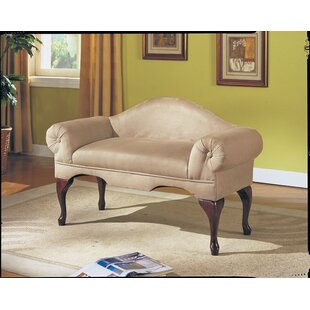 One Allium Way Fort Ransom Rolled Arm Upholstered Bench