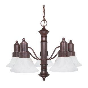 Alcott Hill Mayhugh Modern 5-Light Shaded Chandelier