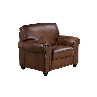 Elmirasol Leather Club Chair by Loon Peak