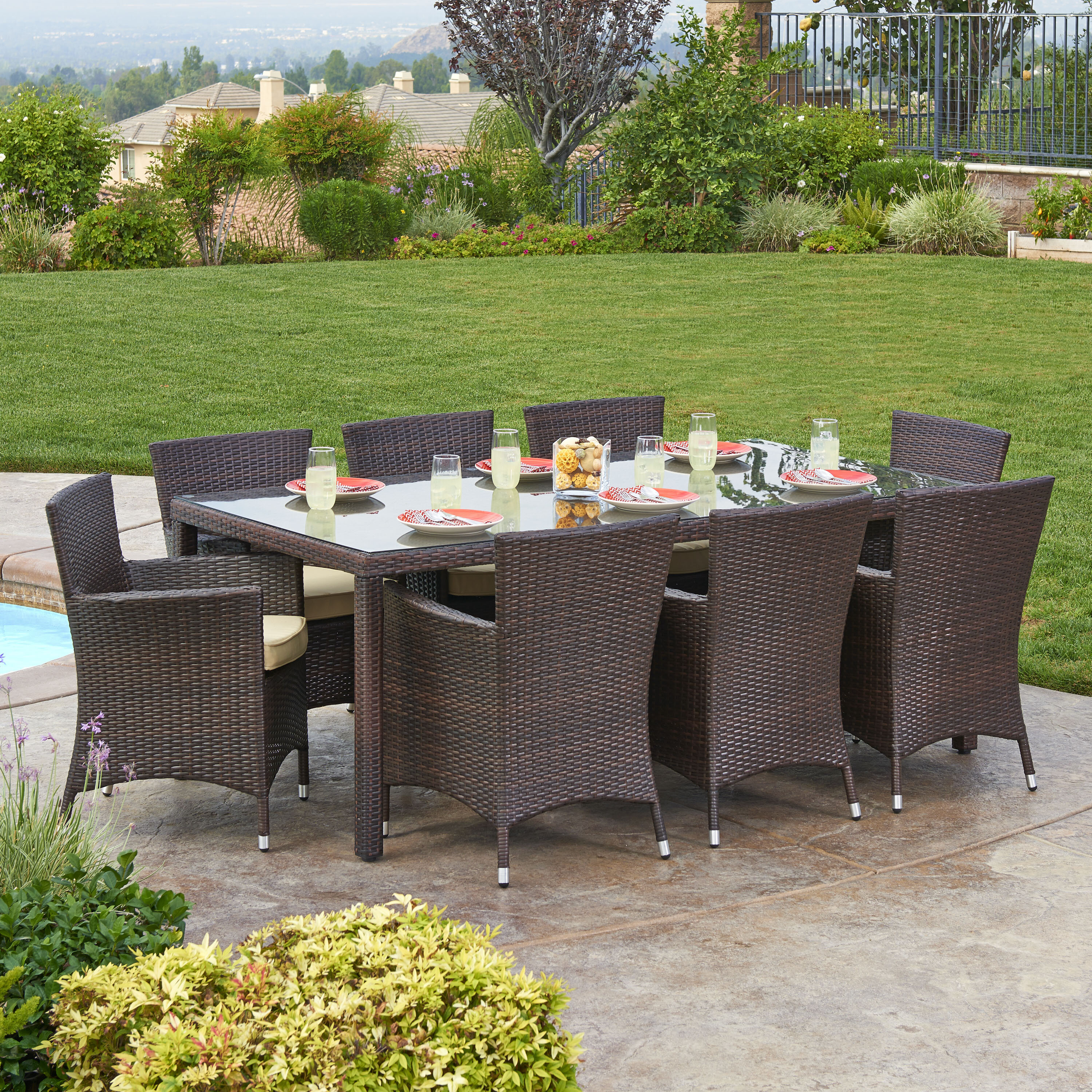 clearance club set patio sams piece outdoor dining depot furniture costco sets home