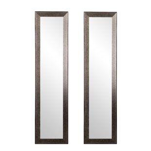Online Reviews Industrial Metal Slim Full Length Mirror (Set of 2) By Williston Forge
