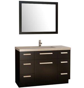 Reviews Mosley 48 Single Bathroom Vanity Set with Mirror ByWrought Studio
