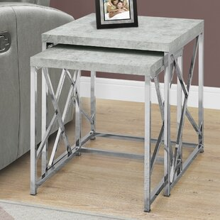Best Price Dace 2 Piece Nesting Tables By Latitude Run