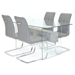 Loreta Dining Set With 4 Chairs By Metro Lane